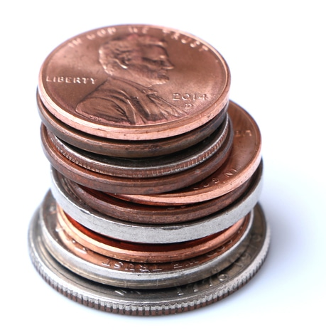 Stack of American Coins