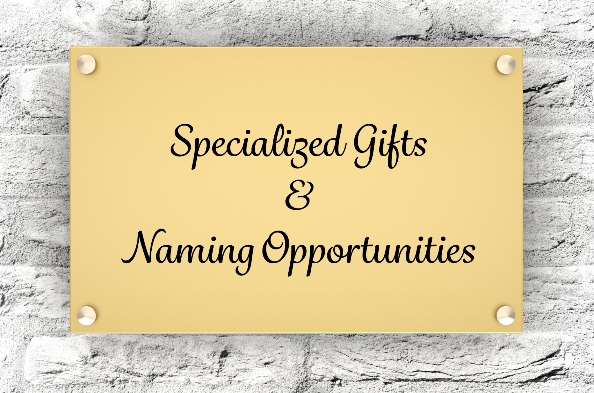 Gold Plaque On Stone Wall With Text